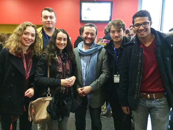 Membres de l'association That's IAE Lyon en compagnie de Jérôme Rive