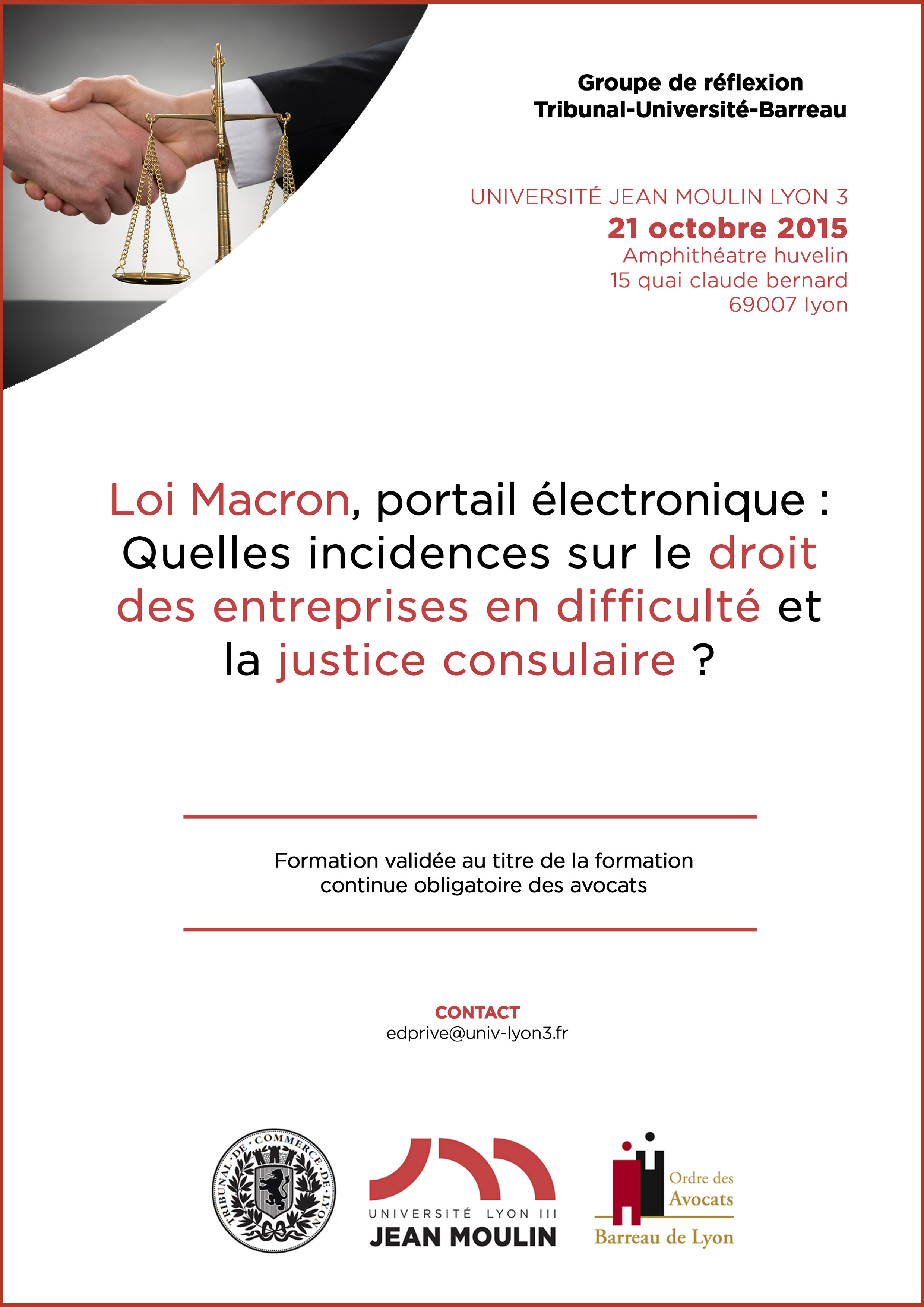 Affiche colloque TUB 21 octobre 2015
