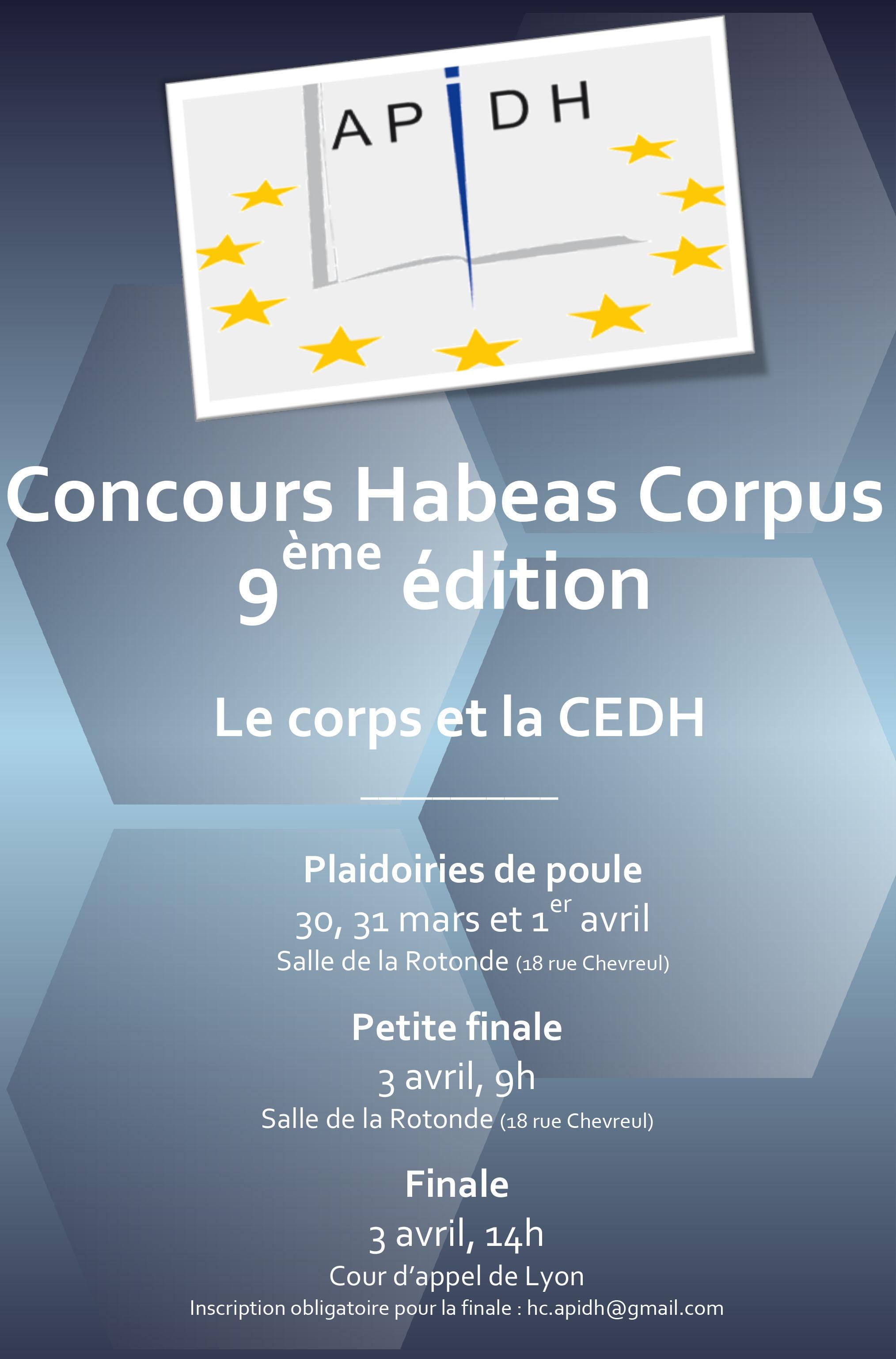 affiche concours Habeas Corpus