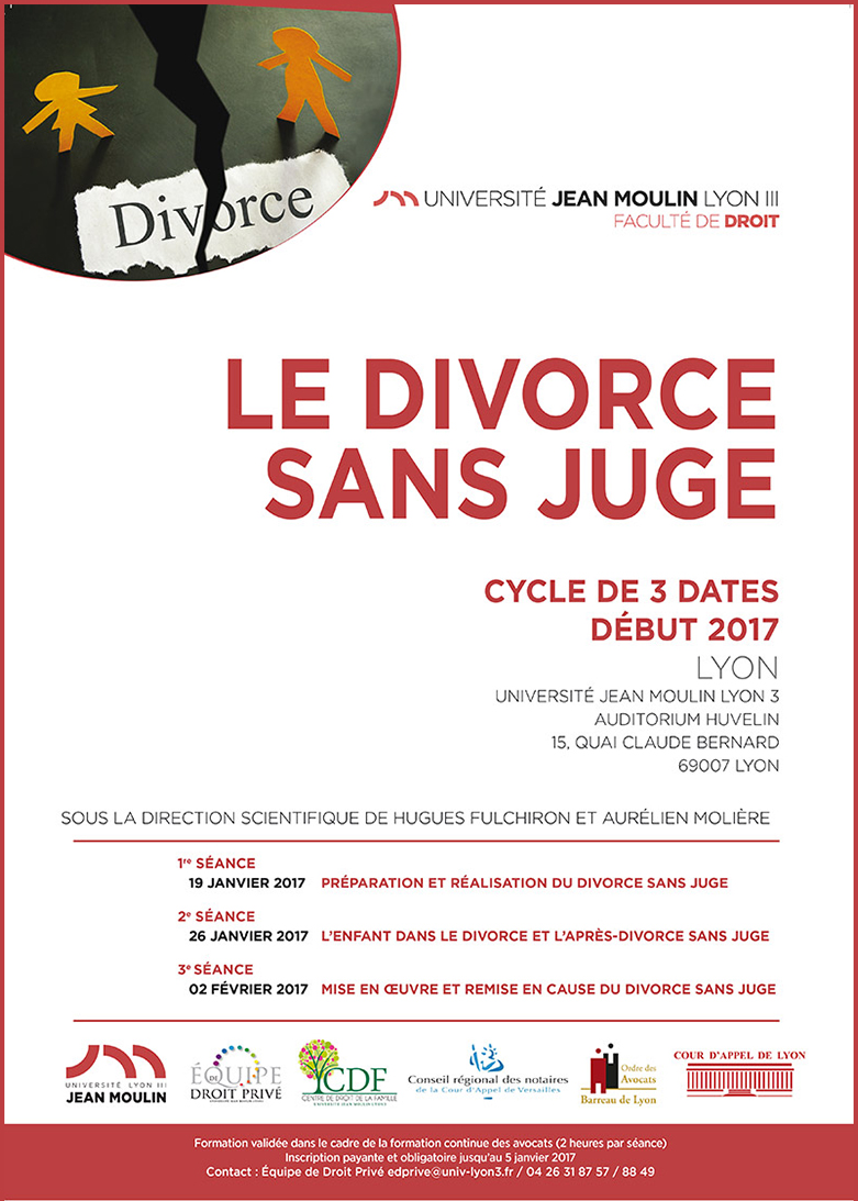 Affiche Divorce sans juge