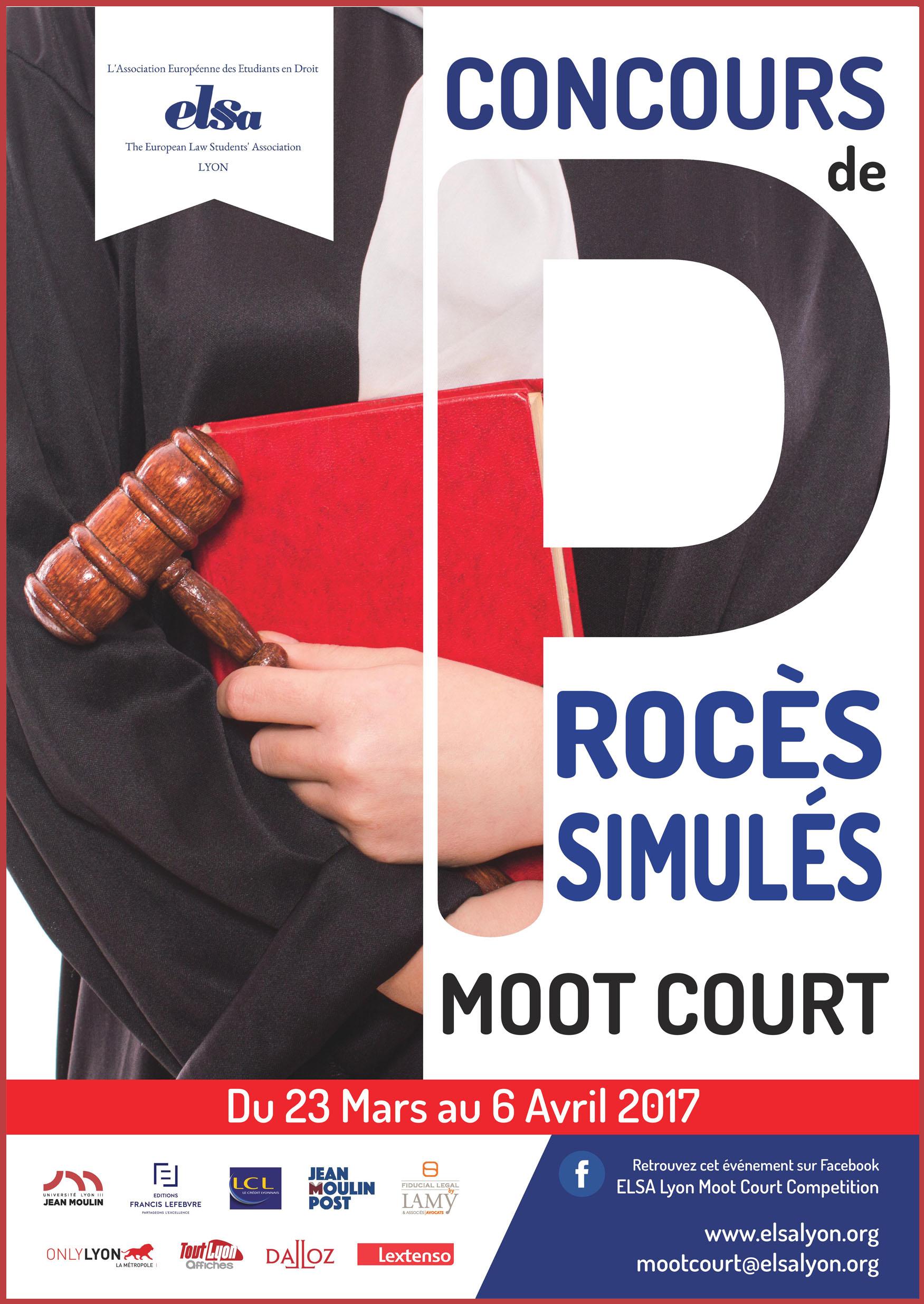 Affiche Moot Court ELSA