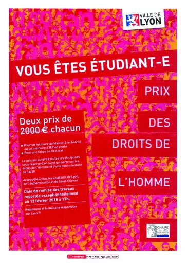 Affiche prix des droits de l'homme 2018