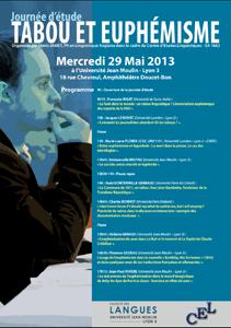 Journée d'étude Tabou et Euphémisme - 29 mai 2013