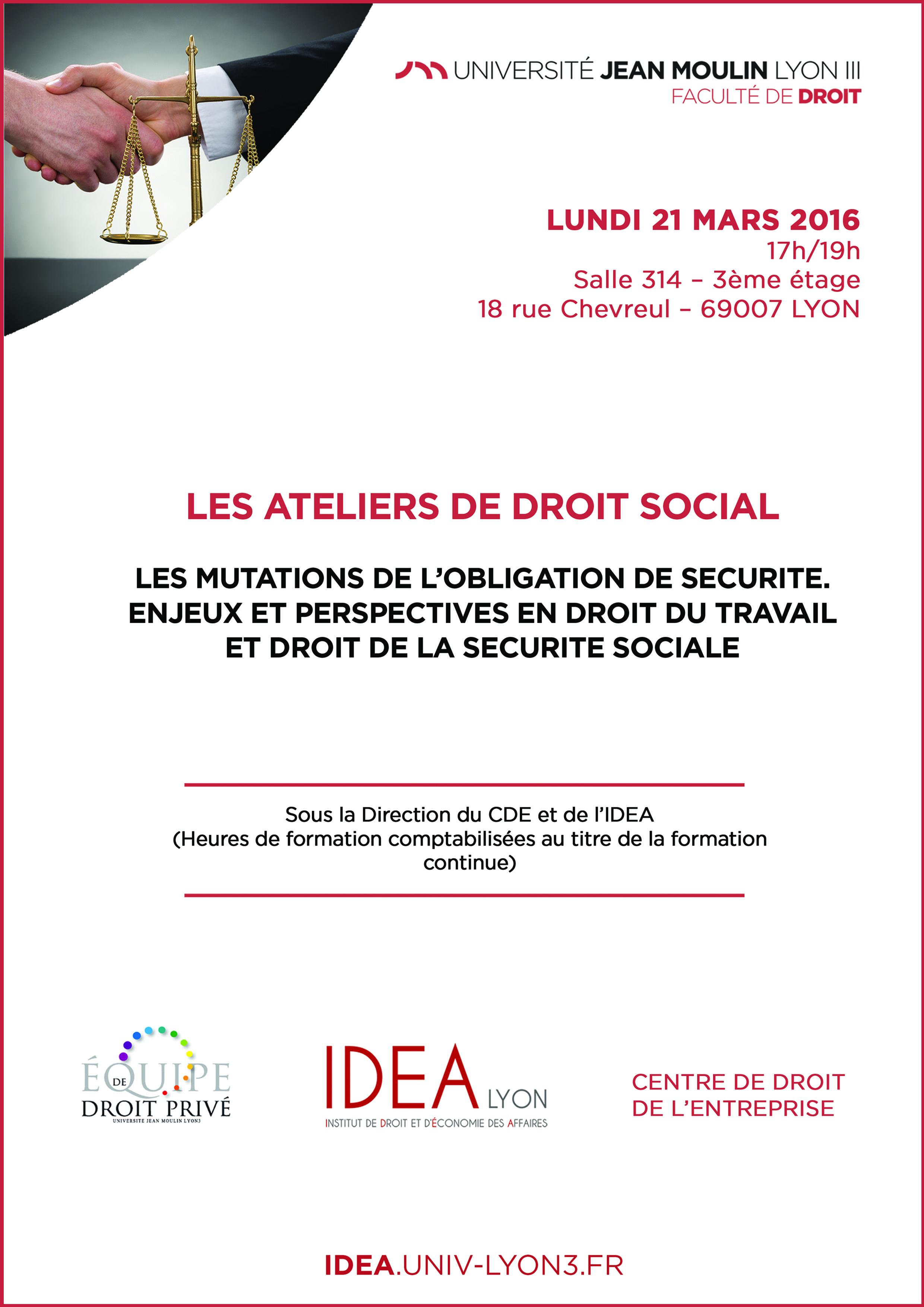 affiche ateliers de droit social