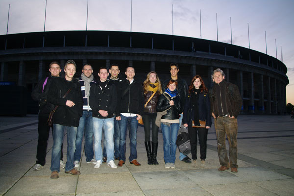 Les étudiants de la Licence Pro Eclairage à Berlin, octobre 2011