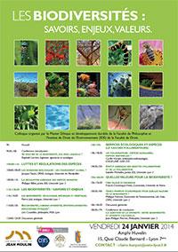 Les biodiversités : savoirs, enjeux, valeurs - 24 janvier 2014