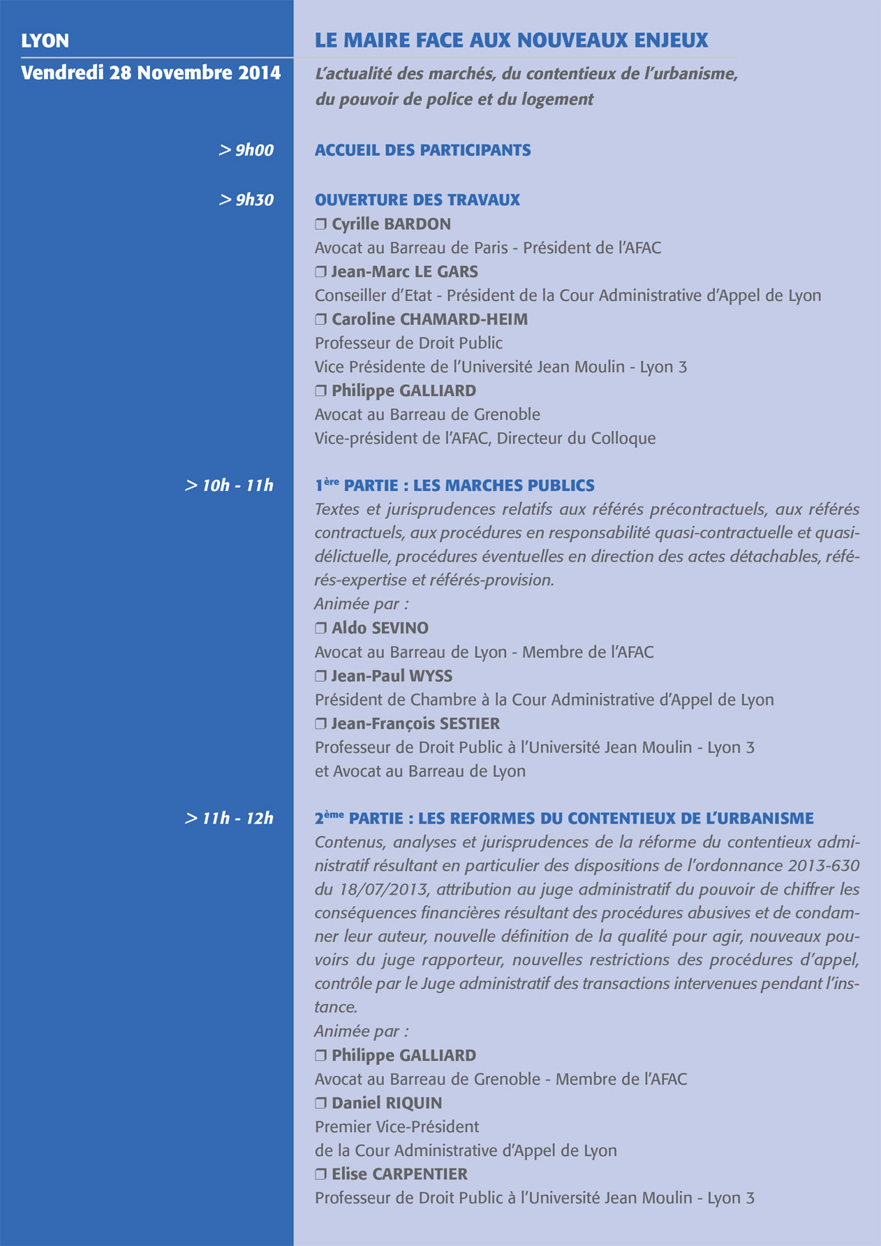 Colloque AFAC 2014 - 1