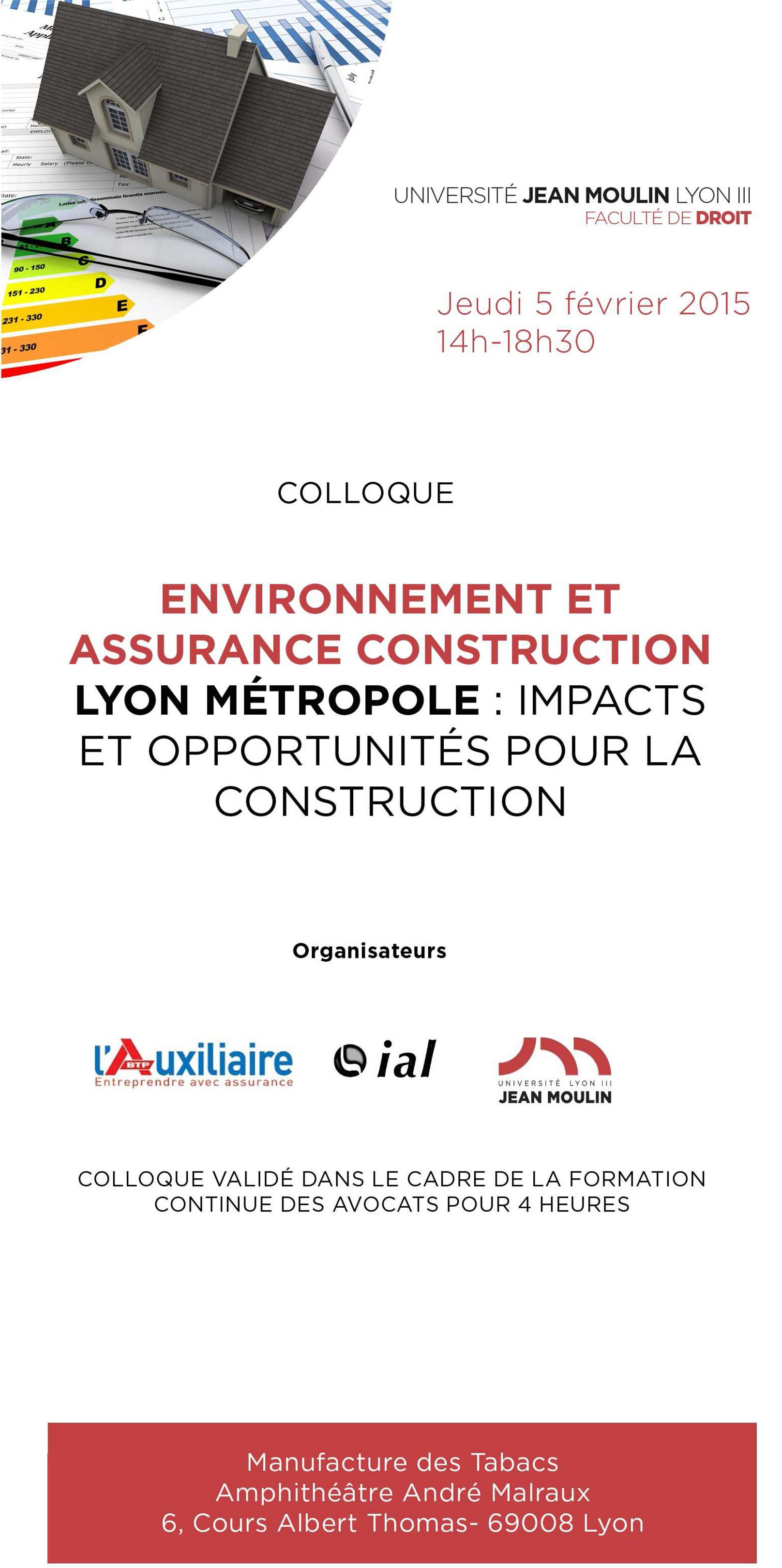 Colloque IAL : environnement 2015
