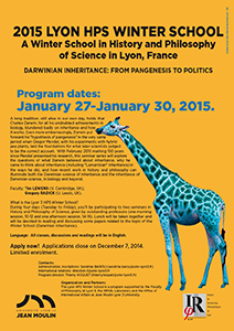 2015 Lyon HPS Winter School