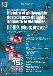 Histoire et philosophie des sciences de la vie : actualité et méthodes - 15 mai 2013