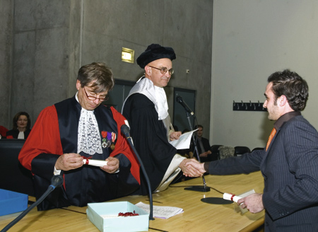 Remise du diplôme de master aux étudiants italiens