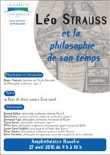 Léo Strauss et la philosophie de son temps