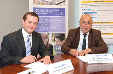 Partenariat IAE Lyon - Ecole Polytechnique Universitaire Lyon 1,
