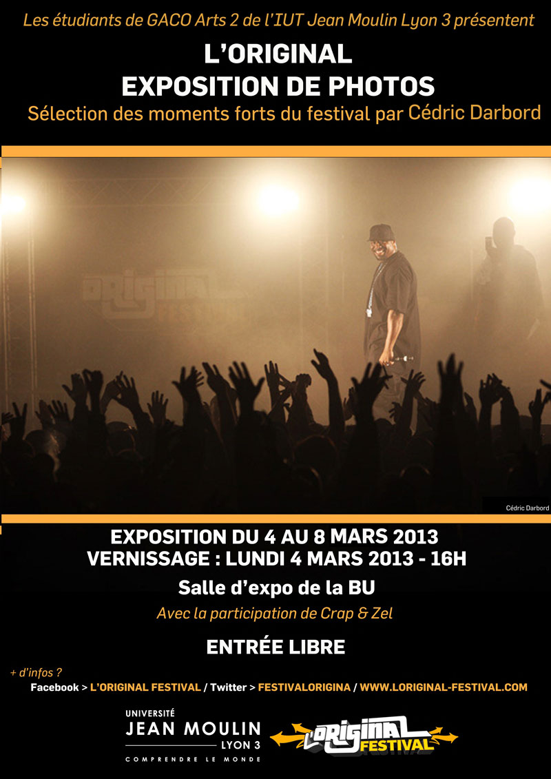 Visuel affiche expo photo - IUT Jean Moulin Lyon 3