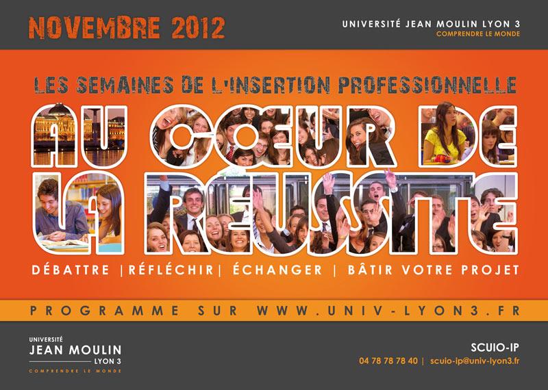 Affiche semaines de l'insertion professionnelle 2012 - Lyon 3