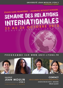 Affiche semaine des relations internationales
