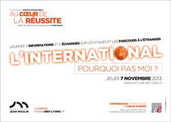 Visuel Journée L'international pourquoi pas moi ? Université Jean Moulin Lyon 3