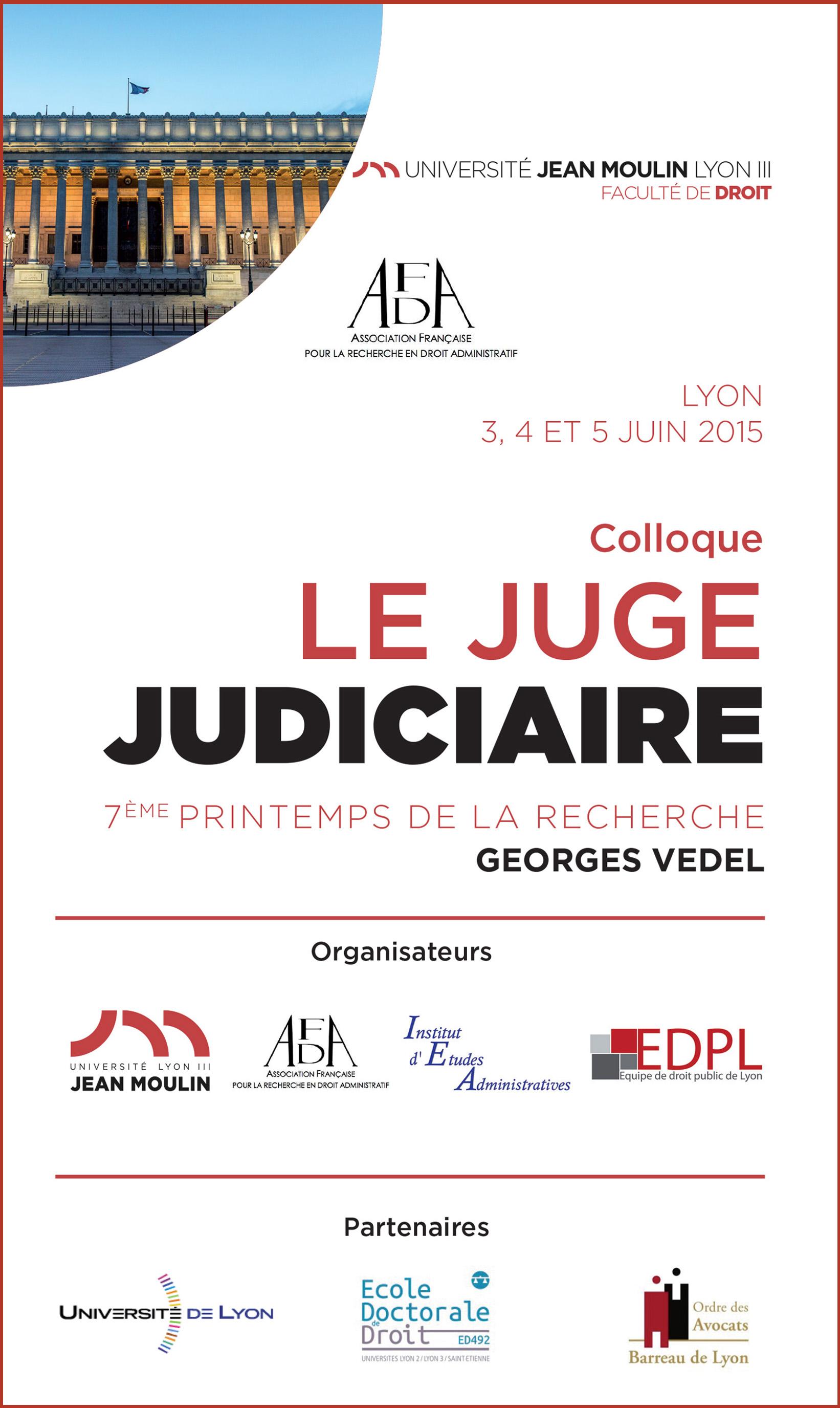 affiche colloque le juge judicaire