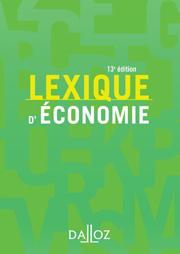 Lexique d'économie Dalloz (13e édition)