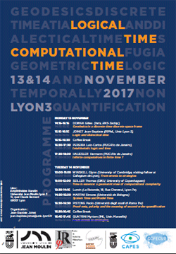 Logical Time and Computational Time - 13 et 14 novembre 2017