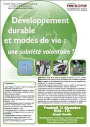 Développement durable et modes de vie