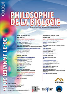 Colloque Philosophie de la biologie