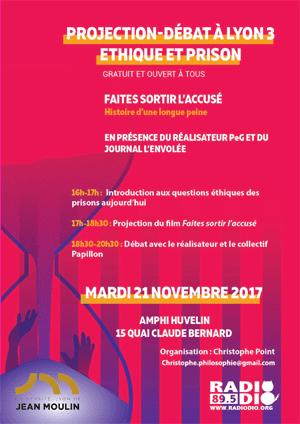 Projection-débat Éthique et prison - 21 novembre 2017