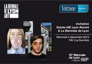 Soirée IAE Lyon Alumni - Biennale Lyon